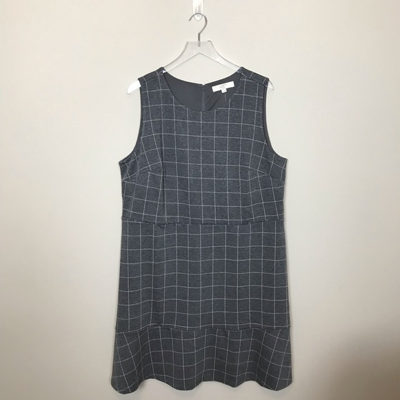 LOFT Dresses & Skirts - Loft Pink and Grey Shift Dress